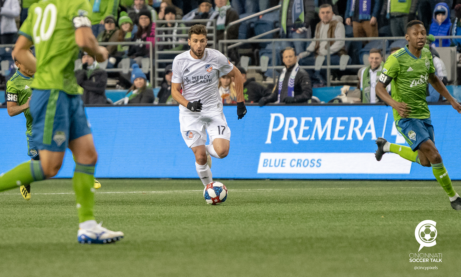 4cd0f89355c FC Cincinnati took an early lead but fell 4-1 to Seattle in its first MLS  match Saturday.